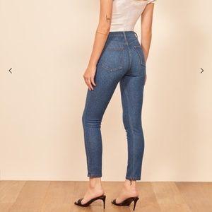 Reformation Serena Cannes High Skinny Crop Jeans